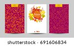 vector set of the autumn... | Shutterstock .eps vector #691606834