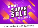 sale vector banner. promo offer.... | Shutterstock .eps vector #691607890