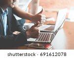 businessmen who work as...   Shutterstock . vector #691612078