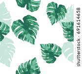 fashion green decor pattern... | Shutterstock .eps vector #691614658