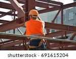 engineering   steel structure   ... | Shutterstock . vector #691615204