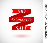 big summer sale. red ribbons... | Shutterstock .eps vector #691619380