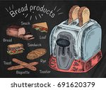 bread products. best choice for ... | Shutterstock .eps vector #691620379