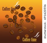 coffee time design poster with... | Shutterstock .eps vector #691620556