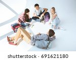 high angle view of... | Shutterstock . vector #691621180