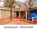 residential home with garden... | Shutterstock . vector #691621660