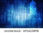 2d illustration abstract... | Shutterstock . vector #691623898