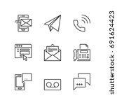 outline icons about... | Shutterstock .eps vector #691624423