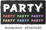 party splash text sets  with... | Shutterstock .eps vector #691626160