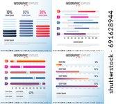 infographics design template... | Shutterstock .eps vector #691628944