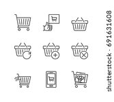 outline icons about shopping... | Shutterstock .eps vector #691631608