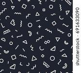 memphis seamless pattern... | Shutterstock . vector #691633090