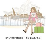 happy travel with good feeling | Shutterstock .eps vector #69163768