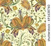 paisley vintage floral motif...