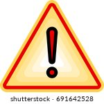 warning icon  attention icon.... | Shutterstock .eps vector #691642528
