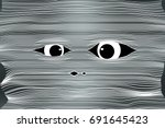 Mummy Face Halloween Background ...