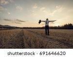 retro image of a successful... | Shutterstock . vector #691646620