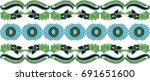 hungarian folk art  | Shutterstock .eps vector #691651600