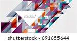 triangle pattern design... | Shutterstock .eps vector #691655644