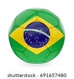 soccer ball brazil flag... | Shutterstock . vector #691657480