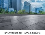 modern building and empty... | Shutterstock . vector #691658698