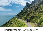 lynmouth  devon uk   july 24  ... | Shutterstock . vector #691658824