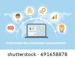 customer relationship... | Shutterstock .eps vector #691658878