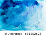 abstract watercolor blue... | Shutterstock . vector #691662628