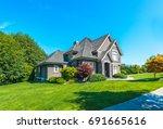 big custom made luxury house... | Shutterstock . vector #691665616
