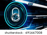 safety concept  closed padlock...   Shutterstock .eps vector #691667008