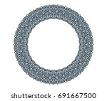 round frame floral embroidery... | Shutterstock .eps vector #691667500