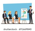 business seminar  vector... | Shutterstock .eps vector #691669840