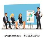 business seminar  vector... | Shutterstock .eps vector #691669840