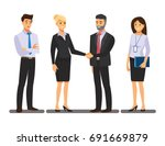 businesss and office concept  ... | Shutterstock .eps vector #691669879