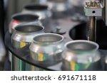 aluminum cans transfer on... | Shutterstock . vector #691671118