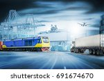 logistics import export... | Shutterstock . vector #691674670