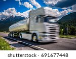 fuel truck rushes down the