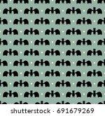 bat pattern. seamless editable...   Shutterstock .eps vector #691679269