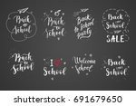 back to school labels  greeting ... | Shutterstock .eps vector #691679650