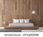 modern contemporary bedroom... | Shutterstock . vector #691680988