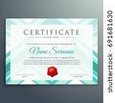modern blue certificate design... | Shutterstock .eps vector #691681630