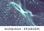data technology abstract... | Shutterstock . vector #691681834