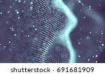 data technology abstract... | Shutterstock . vector #691681909
