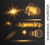 transparent lens flare and... | Shutterstock .eps vector #691682524