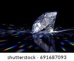 sparkling light blue round... | Shutterstock . vector #691687093