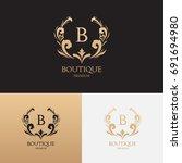 boutique brand logo template.... | Shutterstock .eps vector #691694980