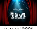vector theatre stage... | Shutterstock .eps vector #691696066