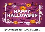 halloween typography design... | Shutterstock .eps vector #691696858