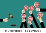 auction and bidding concept.... | Shutterstock .eps vector #691698019