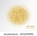 sparkling circle  golden... | Shutterstock .eps vector #691699090